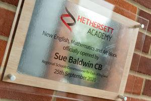 HETHERSETT ACADEMY OPENING BALDWIN 25092020